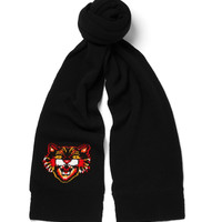 Gucci - Angry Cat Intarsia Wool Scarf