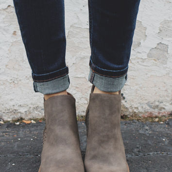 Out of Sight Booties - Taupe