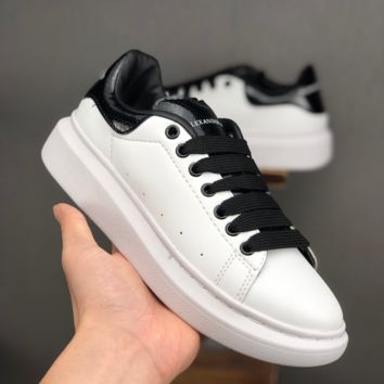 Alexander McQueen White Black Women Fashion Casual Sneakers Men Sport Shoes - Best Deal Online