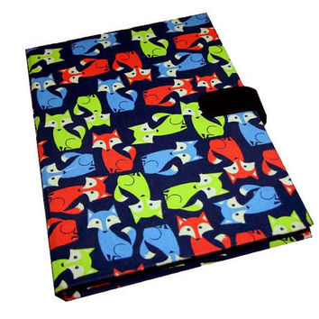 Kindle Case Samsung Tab 3 Case iPad 2 Mini Neon Foxes Kindle Fire HD Nexus Asus Nook Case Ipad Case Magnetic closure option