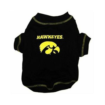 PEAP7N7 Iowa Hawkeyes Dog Tee Shirt