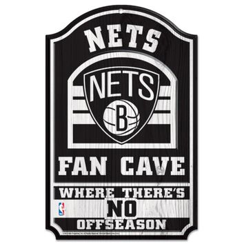 Brooklyn Nets No Offseason 11x17 Wood Fan Sign