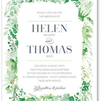 Delicate Fringe 5x7 Wedding Invitations | Shutterfly