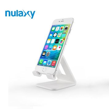 Nulaxy 4 Colors Desk Holder For Phone ABS Material Mobile Phone Holder Stands Desktop Phone Charger Stand Mount Phone Support