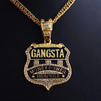 Shiny New Arrival Gift Stylish Jewelry Music Hip-hop Necklace [10390924487]