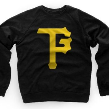Wiz Khalifa Taylor Gang Pittsburgh P Crewneck Sweater Black / Yellow TGOD