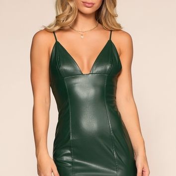 Flatliner Mini Dress - Emerald