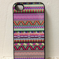 Iphone Case - Pink Aztec Design for Iphone 4 and Iphone