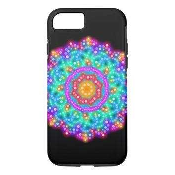 Rainbow Glow iPhone 7, Tough Phone Case