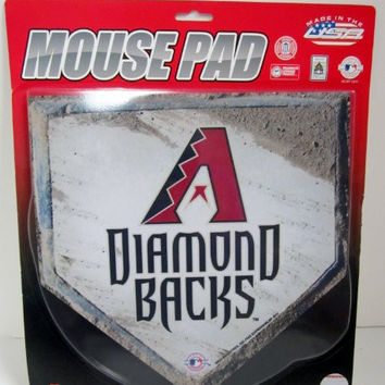 MLB Officially Licensed Diamond Backs Home Plate Mouse Pad