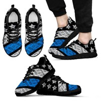 Thin Blue Line Police Shoes (mens)