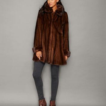 The Fur Vault Flared Mink Fur Coat
