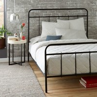 Imogene Metal Bed - Gunmetal