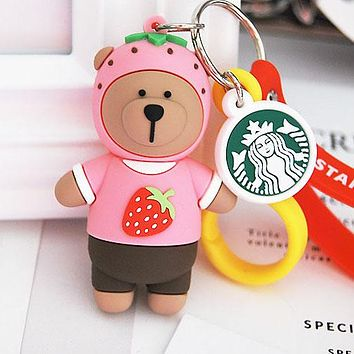 Starbucks Woman Men Fashion Bear Key Buckle Bag Ornaments