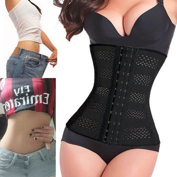 Women Body Shaper Latex Waist Trainer Cincher Underbust Corset Shapewear