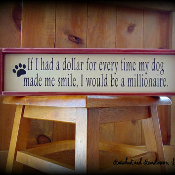 Dog Sign, Dog Lover Gift, Pet Owner Gift, Dog Plaque,Shelf Sitter,Sign With Frame,Framed Plaque, Wooden Sign,Paw Print Decor,Gifts Under 50