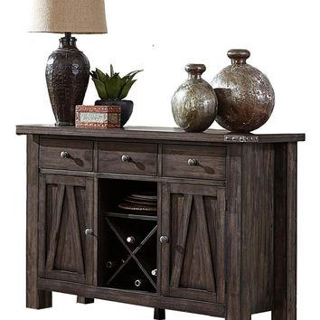 Home Elegance 5518-40 Mattawa collection country style brown and gray undertone finish wood sideboard server
