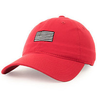 Black and Silver Flag (Red dad hat)