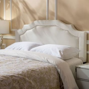 Broxton Adjustable Full/ Queen Studded Fabric Headboard by Christopher Knight Home | Overstock.com Shopping - The Best Deals on Headboards