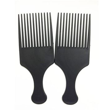 Afro Comb Curly Hair Brush Salon Hairdressing Styling Long Tooth Styling Pick hair brush escova de cabelo comb hair professional