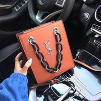 YSL Women Leather Shoulder Bag Satchel Tote Bag Handbag Shopping Leather Tote Crossbody Satchel Shouder Bag