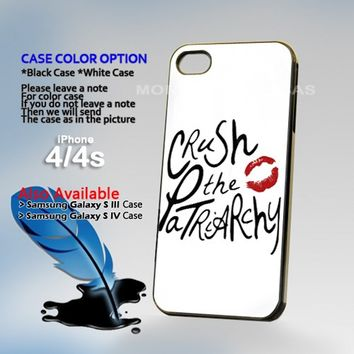 Crush the Patriarchy, Photo On Hard Plastic iPhone 4 4S Case