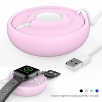 Apple Watch Charging Dock Station Cradle Holder Charger Stand For iWatch Series 3 / Series 2 / Series 1 /Nike+/ 42mm / 38mm (Pink)
