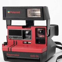 Impossible Vintage Color 654cl Polaroid Instant Camera Set- Red One