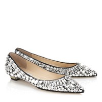 Chic Black Nappa and Crystal Pointy Toe Pump Shoes | Tibet | JIMMY CHOO Shoes