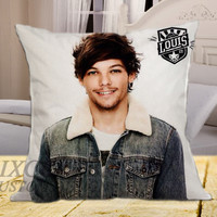 Louis Tomlinson 1D on square pillow cover 16inch 18inch 20inch