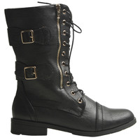 Zooloo Gold Zip Combat Boots | Shop Shoes at Wet Seal