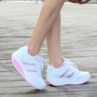 Height Increasing Summer Shoes Women's Casual Shoes Sport Fashion Walking Shoes for Women Swing Wedges Shoes Breathable 35-40