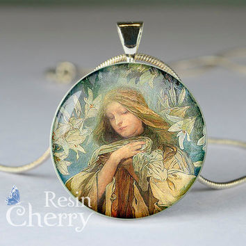 Madonna jewelry,Virgin Mary pendant charm,Madonna resin pendants,Virgin Mary jewelry,necklace- D0237CP