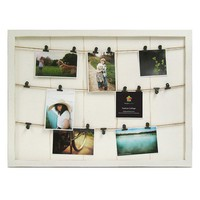 Marrone 18-Photo Fashion Collage Clipboard Frame (White)