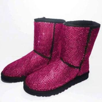 DCCK8X2 Custom Classic Tall Ugg Boots, Ugg Boots, Ugg, Custom Ugg Boots, Swarovski Ugg Boots,