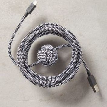 Native Union Night Cable by Anthropologie in Black & White Size: One Size Tech Essentials