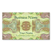 Pretty Abstract in Yellow, Lime, and Pink Double-Sided Standard Business Cards (Pack Of 100)