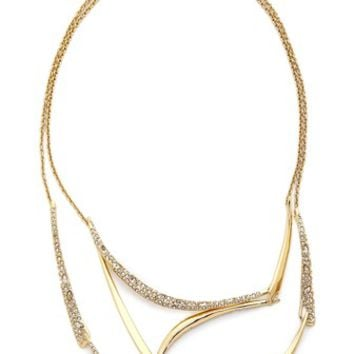Alexis Bittar Encrusted Draping Bib Necklace