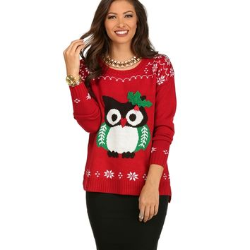 Red Happy Holly-days Sweater
