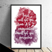 Typography quote print, colorful watercolor poster, quote poster, quote wall art (C140)