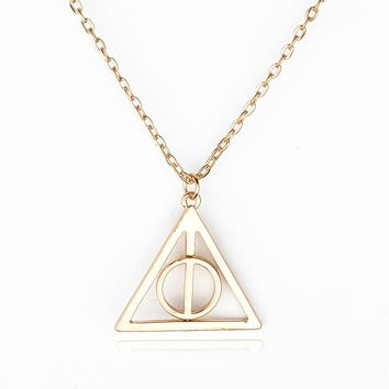 Gift Stylish Jewelry Shiny New Arrival Harry Potter Pendant Silver Necklace [6033895425]