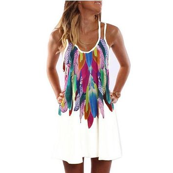 Adorable Feather Dress in Five Colors including Curvy Gal Sizing
