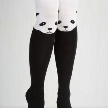 Darling Ex-Panda-ble Enjoyment Socks by ModCloth