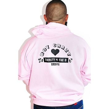 PLUS: Boy Crazy Full Zip Long Sleeve Hoodie-Pink