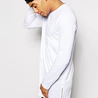 ASOS Super Longline Long Sleeve T-Shirt With Side Zips