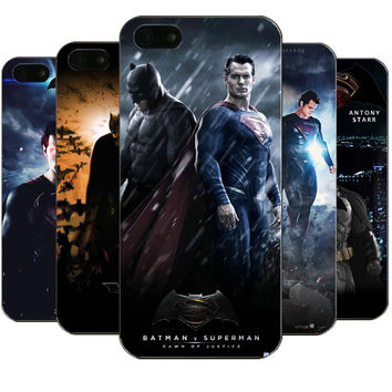 Batman v Superman Design Case For iPhone 5 5S SE Hard PC Back Fundas Phone Cover For iPhone 5 5s Capa Coque