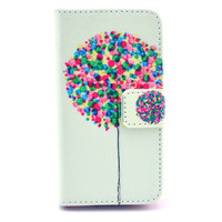 Balloon Print Leather Case Cover Wallet