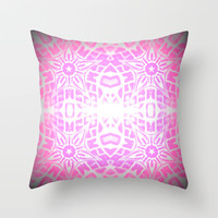 80s Pink Sparkle Throw Pillow by 2sweet4words Designs