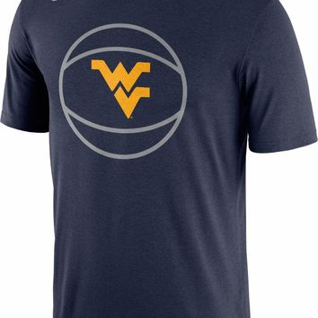 West Virginia Mountaineers Nike DRI-FIT Legend Basketball T-Shirt - LARGE - NWT