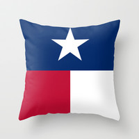 """The State flag of Texas - The """"Lone Star Flag"""" of the """"Lone Star State"""" Authentic Verticle Version Throw Pillow by LonestarDesigns2020 - Flags Designs +"""